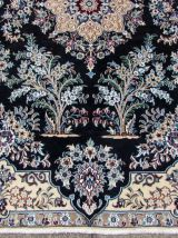 Tapis vintage Persan Nain fait main, 1Q0258