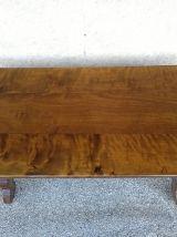 Ancienne table basse rustique bois & fer forgé fin XVIII ème