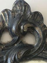 Miroir face à main en bronze XIXeme siècle