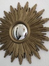 Miroir soleil oeil de sorcière vintage 1960 - 50 cm