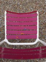 Paire de chaises Tolix rouge