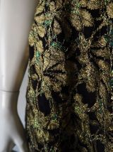 Robe chic en dentelle dorée vintage 70's 80's