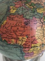 Globe terrestre Girard verre vintage 1950 - 20 cm