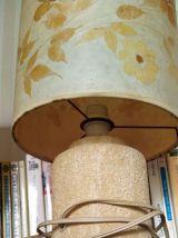 Paire de lampes de chevet abat-jour herbier