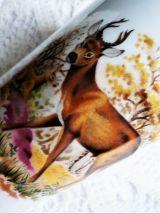 Mazagrans vintage décor gibier de chasse, cadeau chasseur.