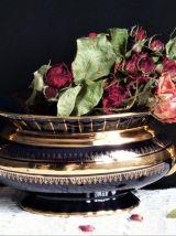 Jardinière italienne vintage. Déco centre de table céramique