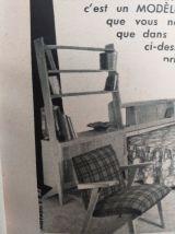 Bibliothèque années 50 vintage scandinave pieds compas