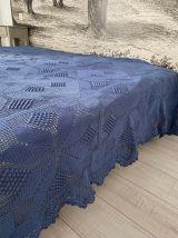 Jeté de lit bleu azur