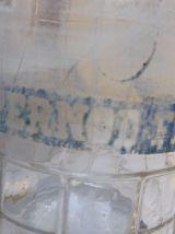 Carafe Pernod fils 1950/60 verre épais bullé