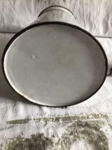 Pot à lait en tôle  émaillé ancien