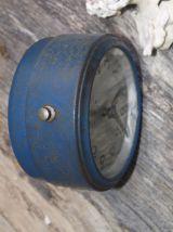 Reveil vintage bleu canard JAZ fonctionnel