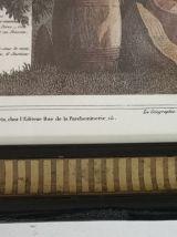 Cadre illustration Ile de La Réunion vintage