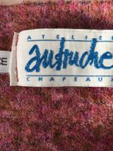 Echarpe atelier Autruche Chapeaux Made in France coloris ros