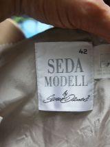 Jupe vintage à carreaux marque Seda Modell