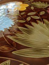 Plat rond floral Sarreguemines vintage