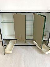 Meuble de salle de bains en formica blanc vintage 70's