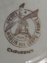 10 assiettes plates Orchies Moulin des Loups - Cheverny