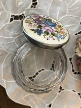 Bonbonnière en verre ciselé - Boîte/Pot -Vintage