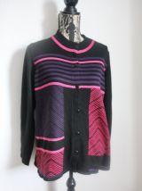 Gilet vintage de la marque Christine Laure noir  Taille 42