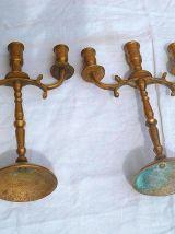 paire de chandeliers ,  vintages