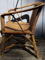 fauteuil enfant en rotin