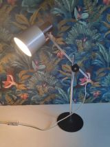 lampe industrielle en aluminium brossé avec balancier