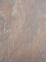 Table basse chêne brutaliste vintage années 50