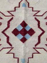 Tapis vintage Indien Dhurri fait main, 1Q0269