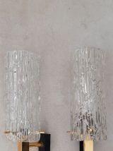 Lot pour un lustre et deux appliques Arlus années 60