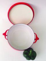 Soupière vintage émaillée rouge design | Dansk Kobenstyle