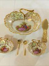 service à dessert en porcelaine de Limoges - made in France