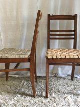 Set de 6 chaises en hêtre massif – années 40/50