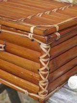 Mallette bambou vintage