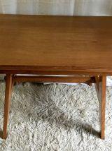 Table/bureau en chêne massif par René Gabriel – années 40/50