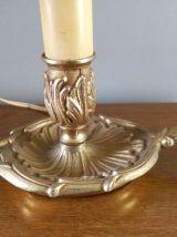 Paire de lampes de chevet en bronze