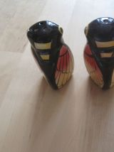 saliere poivriere ancienne forme de cigales en faïence