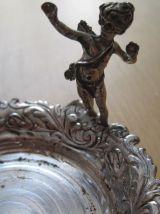 salière poivrière ancienne décor d'anges