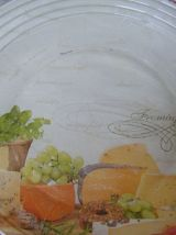 Assiette à fromages en verre Vintage 70'S