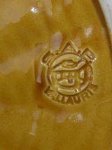 Authentique plateau à fromage Vallauris 50' avec son couteau