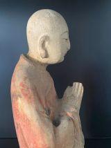 Antiquité origine TIBET XIX eme Bouddha bois