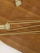 Table basse vintage année 50/60 Formica bicolore pliable.