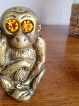 Lot de 2 singes en bronze doré