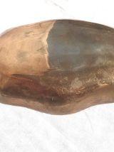 Coupelle laiton ciselée polychrome Inde