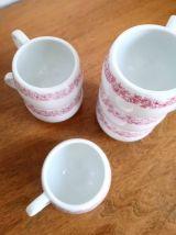 Service 6 tasses à café en porcelaine d'Autriche