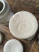Pots à épices grès années 80
