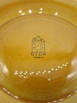 6 assiettes à artichauts barbotine Gien french artichoke pla