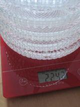 6 petites coupelles en verre a 3 compartiments  diametre 15