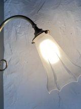 ANCIENNE LAMPE APPLIQUE EN LAITON VINTAGE