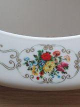 Miroir Syla vintage couleur ivoire et motifs fleuris
