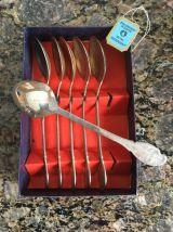 couverts à dessert en métal argenté
